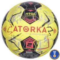 ATORKA Lopta H900 Ihf V2 žlto-sivá