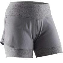 DOMYOS šortky 520 Na Cvičenie Sivé