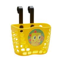 BTWIN Detský cyklistický košík žltý