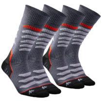 QUECHUA Ponožky Sh920 Warm Mid Sivé
