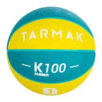 TARMAK Lopta K100 Rubber Zeleno-žltá