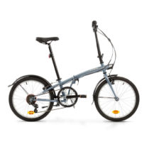 BTWIN Skladací Bicykel Tilt 120 Sivý